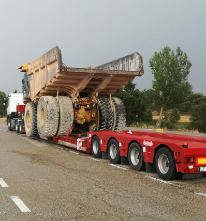 transporte maquinaria madrid tranide
